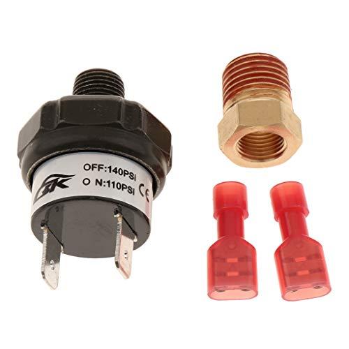 H HILABEE 110-140 PSI Air Kompressor Druckschalter Air Druck Control Regler Schalter, 3/8 Zoll Anschluss -