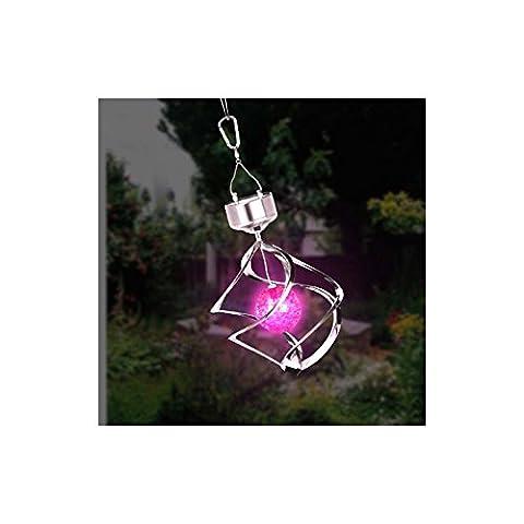 changement de couleur lampe de lumière à vent solaire Lanterne Jardin Saturn en extérieur.