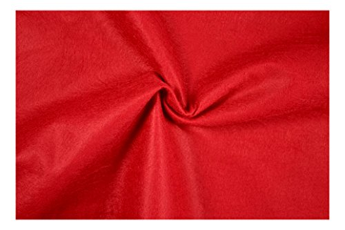 Fabrics-City % ROT VISKOSE FILZ STOFF -180CM -1MM- BEKLEIDUNG DEKO STOFFE, 2774