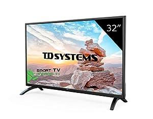Téléviseur 32 Pouces LED HD Smart TD Systems K32DLM8HS. TV HD 1366 x 768, 3X HDMI, VGA, 2X USB, Smart TV.