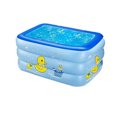 FCH Rectangular Pool Babypool Play Box Pool Blauer Kleiner gelber Ente Swimmingpool Mehrschichtiger unabhängiger Airbag Dickes Planschbecken des Familienozeanballpoolsm,130 * 90 * 60 cm