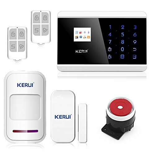 KERUI Professional IOS Android App Touch keypad TFT color Display GSM PSTN Home Security Alarm System Kit with Auto Dial KR-8218G by KERUI - Home Security Auto Dial