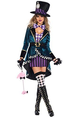 Zauberer Weibliche Kostüm - MingoTor Weiblicher Zauberer Outfit Cosplay Kostüm Damen XL