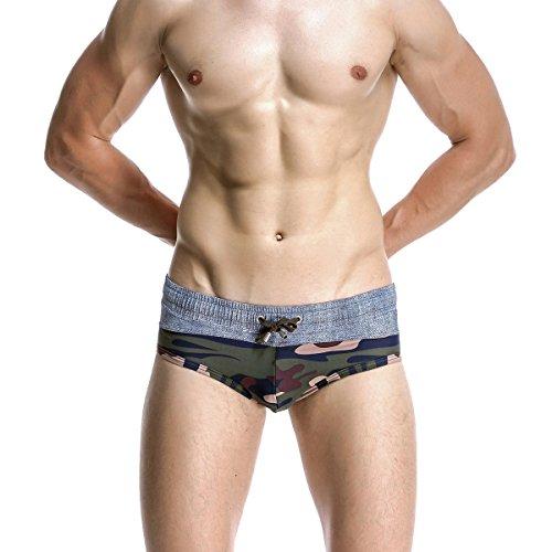 Schwimmen-Badebekleidung Der Männer Militarygreen