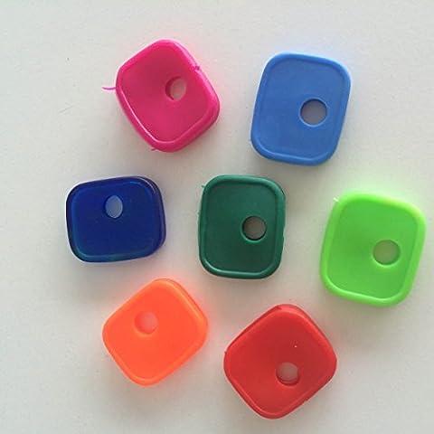 Ringe Segnachiavi Distinguichiavi PVC farbige A Lünette Packung