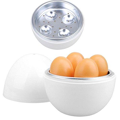 41f6STjbE%2BL. SS500  - Unibos Microwave Electric Egg Boiler Cooker for up to 4 Eggs & Egg Poacher & Omelette Maker New