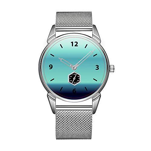 Mode herrenuhr Silber Edelstahl wasserdicht Uhr männer top Marke herrenuhr Uhr cool Shades of Blue Uhren