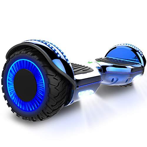 GeekMe 6.5 pollici Monopattino Elettrico Smart Auto bilanciato scooter elettrico con due ruote Board Hover UL2272 certificato con altoparlante Bluetooth e ruote lampeggianti
