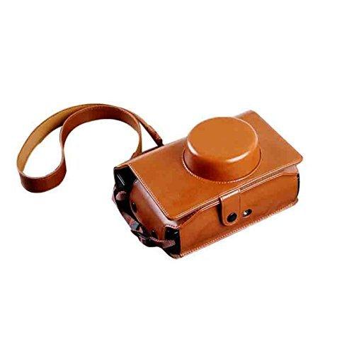 insho Retro PU Leder Lomo Sofortbildkamera Fall Tasche mit Schultergurt für Lomography Lomo \'instant breit Kamera-Braun