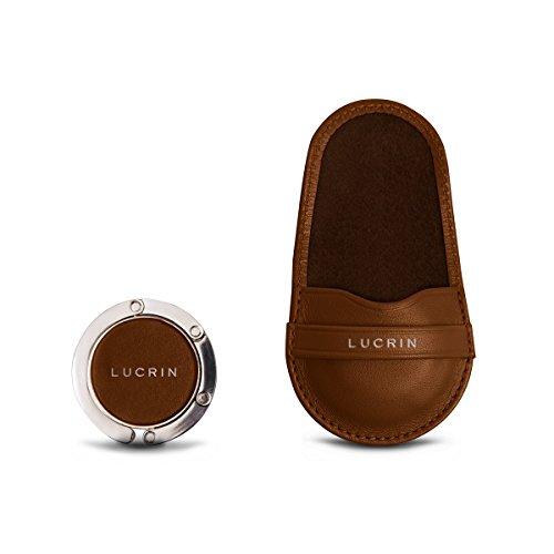 Lucrin - Gancio Appendi Borsa - Pelle Liscia Cognac