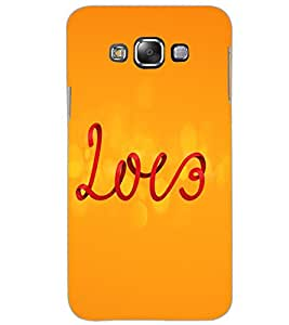 SAMSUNG GALAXY E7 LOVE Back Cover by PRINTSWAG