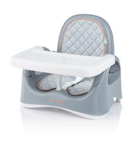 Babymoov Kompakte Sitzerhöhung smokey, mobiler Boostersitz/Hochstuhl für Kinder, 3-fach höhenverstellbar