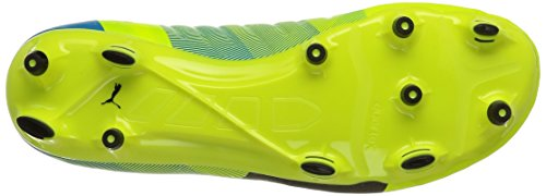 Puma Evopower 2.3 Fg, Chaussures de football homme Jaune (Safety Yellow/Black/Atomic Blue)