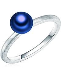 Valero Pearls - Bague - Perles de culture d'eau douce, matifié - Argent sterling 925 - Bijoux de perles - Bijoux pour femmes - En plusieurs tailles, bijoux en argent - 60201740