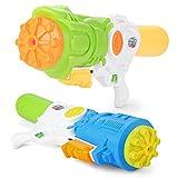 Fun-Here Pression Super Squirt Guns Summer Toy Grand pour Adultes Enfants, Multicolor Blaster Super Water Gun dans drôle Party Pool Extérieur Jouet d'intérieur (Pack de 2)