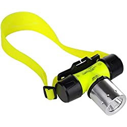 T6 Phare de plongée éclairage extérieur éblouissement de Charge étanche 10W LED phares Lampe de Poche de plongée (sans Batterie)
