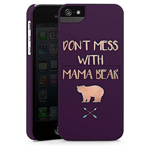 Apple iPhone 5c Silikon Hülle Case Schutzhülle Mama Bär Muttertag Mutter Premium Case StandUp