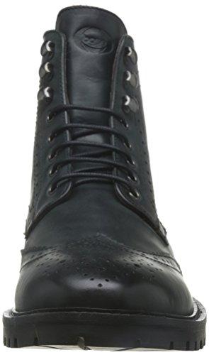 Base London , Herren Stiefel schwarz schwarz Schwarz
