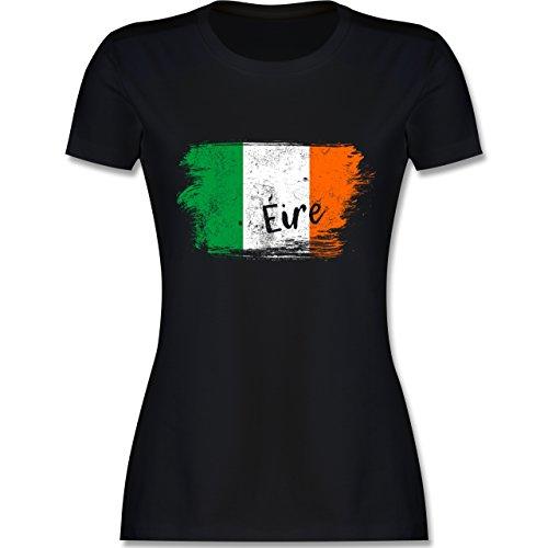 Länder - Irland Vintage - M - Schwarz - L191 - Damen Tshirt und Frauen T-Shirt -