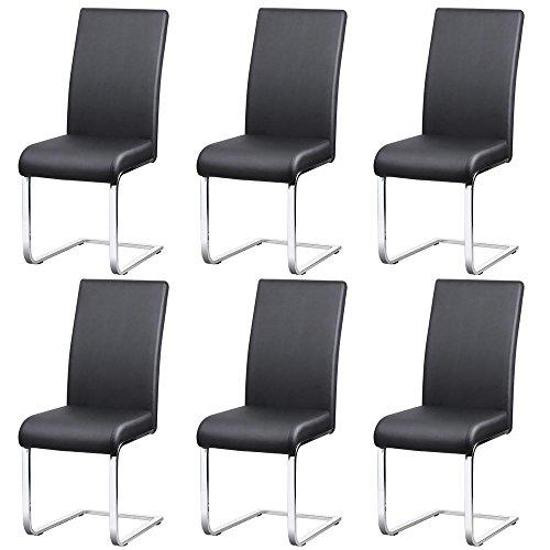 Yaheetech 6er Set Esszimmerstühle Wohnzimmerstuhl Küchenstuhl Schwingstuhl, Esszimmer