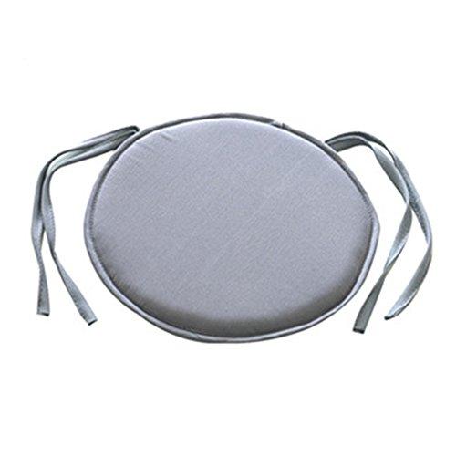 NANAD Esszimmerstuhl-Kissen, abnehmbare Sitzkissen, Schaumstoff-Kissen, zum Anbinden von Sitzkissen für Gartenstuhl-Kissen, hellgrau, 38 * 38cm