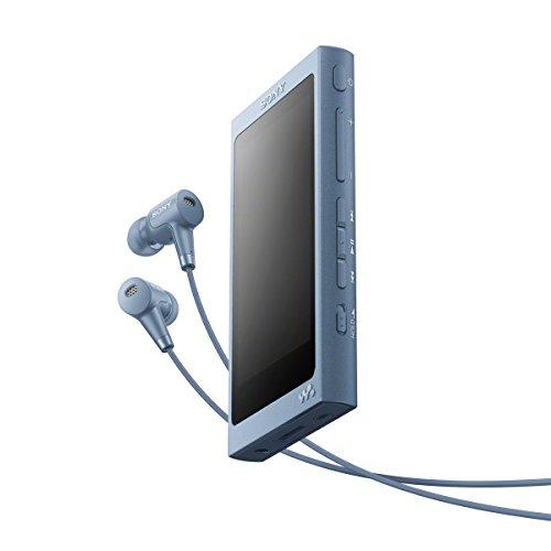 esolution Walkman MP3 Player (16 GB, Touchscreen, Digitalverstärker, Bluetooth, NFC, Hi-Res, bis zu 45 Stunden Akkulaufzeit) mit Noise Cancelling Kopfhörern, Blau ()