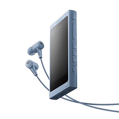 Sony NW-A45HN High Resolution Walkman MP3 Player (16 GB, Touchscreen, Digitalverstärker, Bluetooth, NFC, Hi-Res, bis zu 45 Stunden Akkulaufzeit) mit Noise Cancelling Kopfhörern, Blau (Sony Mp3-player Hd)
