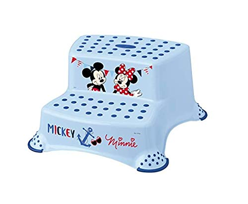 "keeeper 10032614046 igor ""mickey mouse"" tritthocker zweistufig mit anti-rutsch-funktion light blue"