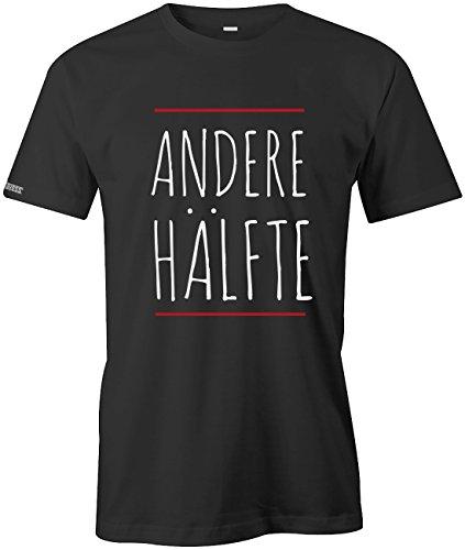 ANDERE HÄLFTE - PARTNER SHIRT - HERREN - T-SHIRT Schwarz