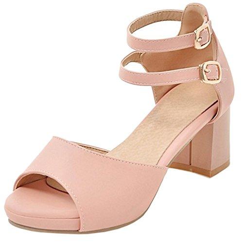 Petit Taoffen Talon Femmes Peep Elegant Toe Mariage Pink Sandales xFXxqdR