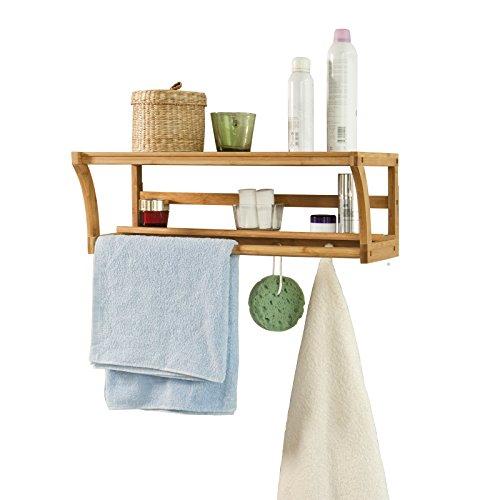 SoBuy Bambus Handtuchhalter und Badregal