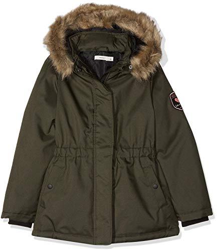 NAME IT Mädchen NKFMOLLY Jacket NOOS Jacke, Grün Forest Night, 128