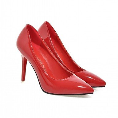 Les talons des femmes Printemps Automne Bureau similicuir Confort & Carrière Casual Robe Talon Gris Noir Rose Rouge Black