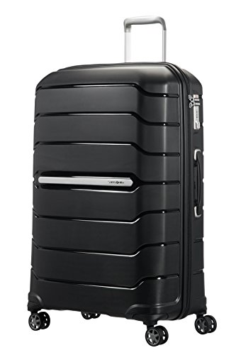 Samsonite Flux Spinner 75/28 Expandable Bagaglio a Mano, L (75cm-111L), Nero (Black)