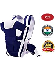 BWT Adjustable Hands-Free 4-in-1 Baby with Waist Carriers/Baby Sling/Front Carriers/Carrier Bags/Baby Carry Bag (Navy Blue)