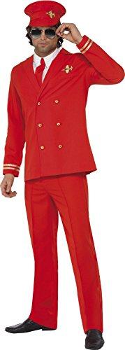 Smiffys, Herren Höhenflieger Kostüm, Jacke, Hose, Mütze und Hemdfront, Größe: L, (Party Kostüm Halloween Flyer)