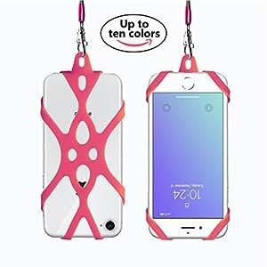 Rocontrip Custodia Telefono Imbracatura A Mano Libera Supporto Cordino per iPhone 6 6S 6 Plus iPhone 6S Plus, iPhone 7 and 7 Plus, Samsung, 4.7-5.5 pollici, Silicone (anguria rosso)