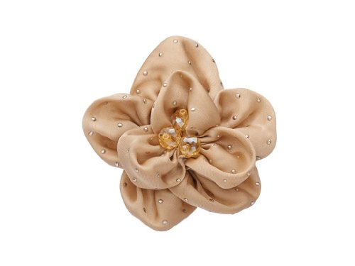 "La Loria - Donna Clip Decorative Per Scarpe ""Little Beauty"" Gioielli, Spille, le clip del pattino in colore crema - 1 Coppia"