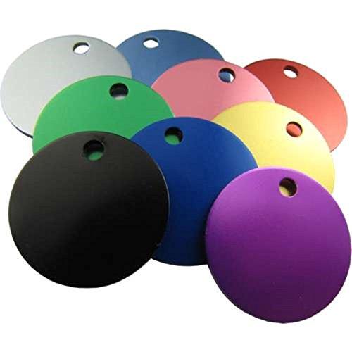 Anhänger für Hundehalsbänder, gravierbar, Aluminium, fünf Farben zur Auswahl