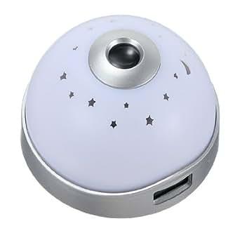 Veilleuse multicouleur LED Projecteur alarme REVEIL Lampe matin nuit lumiere