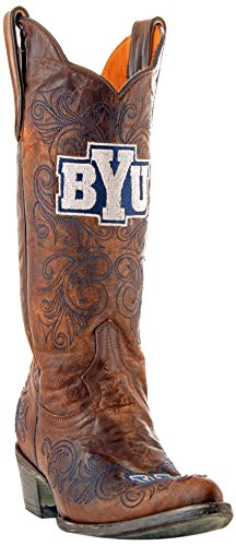 Gameday Boots NCAA BYU Cougars Damen 13 Zoll, Damen, BYU-L029, Messing, 8.5 B (M) US -