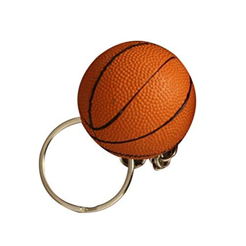 TOYMYTOY Portachiavi di pallacanestro Portachiavi Ciondolo Souvenir regalo Car Bag 4 CM (superficie ruvida arancione)