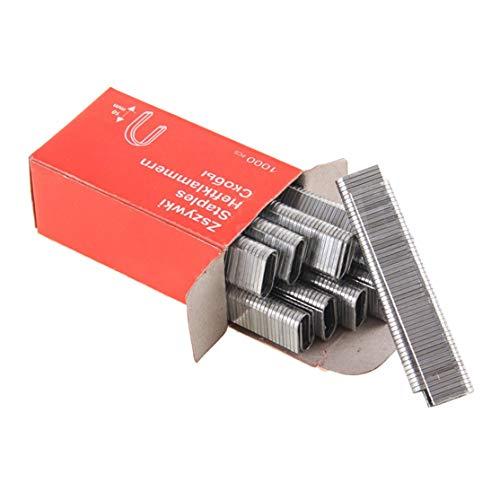LouiseEvel215 1000 Stücke U-förmige Heftklammern 1,2 MM Dicke rostfreie Nägel für Rahmung Tacker Hand Tacker Hand Carpet Werkzeug