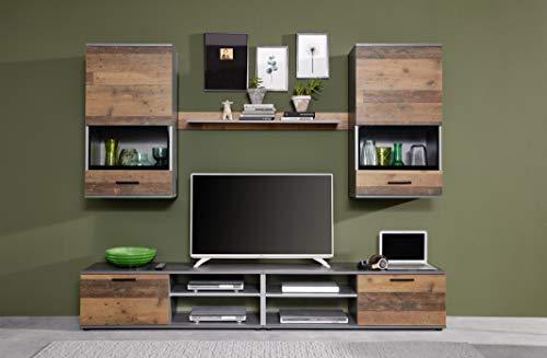 Wohnwand Set Holz, mit viel Stauraum Bild 2*