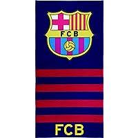 Textile tarragó FCB Logo Serviette de plage, coton, multicolore, 30x 40x 3cm