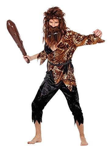 Karneval-Klamotten Kostüm Höhlenbewohner Afrika Herr Kostüm Karneval Neandertaler Herrenkostüm Größe ()