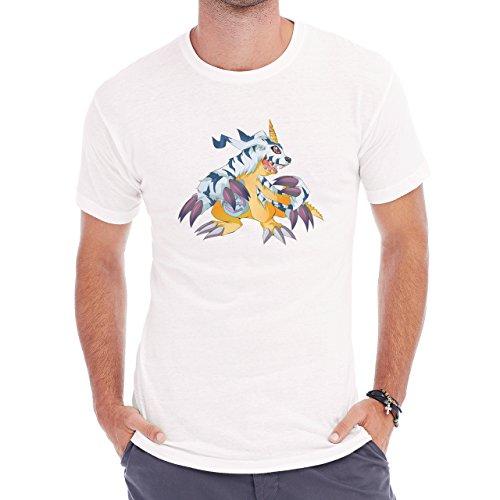 Digimon Garurumon Wolf Gabumon Roar Herren T-Shirt Weiß