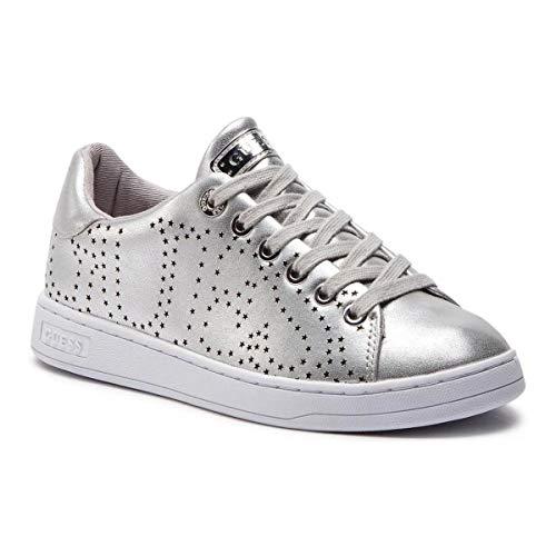 Guess jeans fl5carlel12 calzatura sportiva donna argento silver 39