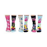 Go Flamingo - United Oddsocks - Box 6 Oddsocks Women - Multicoloured - UK 4-8, EUR 37-42, US 6.5-10.5