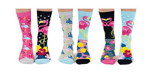 United Oddsocks Go Flamingo Socken für Damen, Größe 37-42 EU / 3-8 UK -